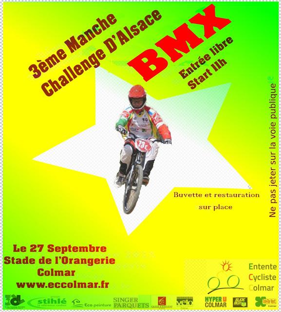 Invitation pour la 3ème manche du Challenge d'Alsace BMX 2015 dimanche 27.09 à Colmar