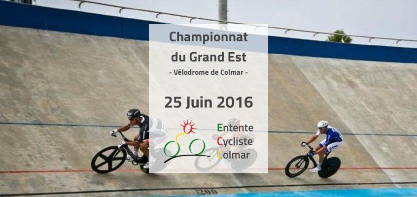 Le 25 juin, le Championnat Piste du Grand Est sur le Vélodrome du Ladhof