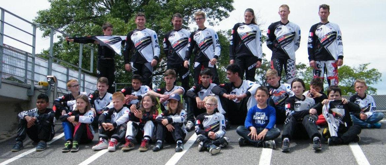 L'équipe BMX de l'EC Colmar