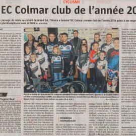 L'EC Colmar club de l'année 2016 !