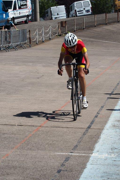 Une très belle victoire de Guillaume sur le Vélodrome du Ladhof