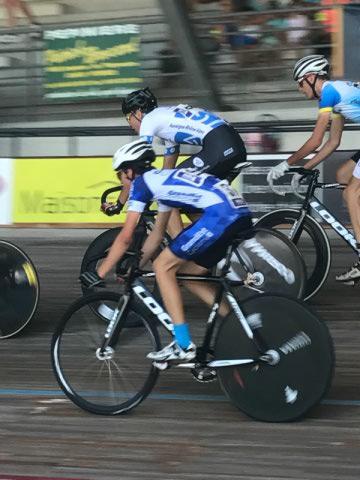 Guillaume lors des championnats de France sur piste.