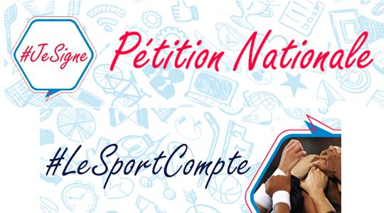 Signe la pétition #LeSportCompte