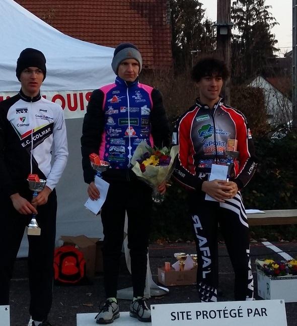 Guillaume sur le podium à Kappelen.