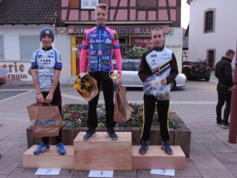 Première course, premier Podium pour Nicolas.