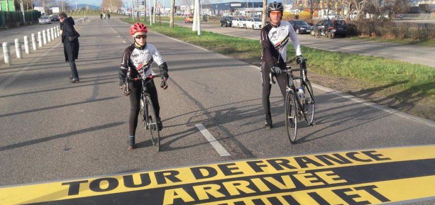 Inauguration de la ligne d'arrivée du Tour de France 2019