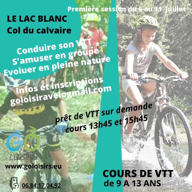 Cours vélo et VTT cet été par Go loisirs